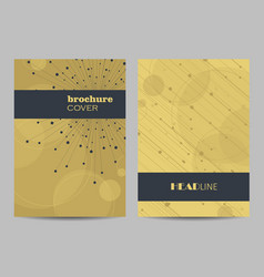 templates for brochure cover in a4 size vector image