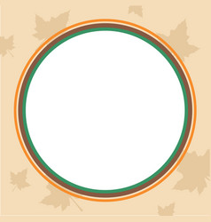 thanksgiving frame with maple style vector image