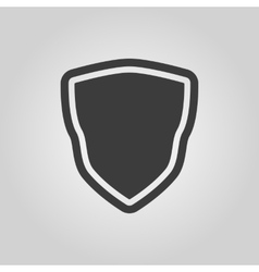 The shield icon Shield symbol Flat vector image