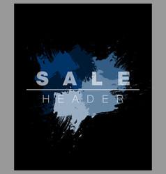 watercolor splash frame sale banner vector image