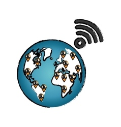World internet connection vector