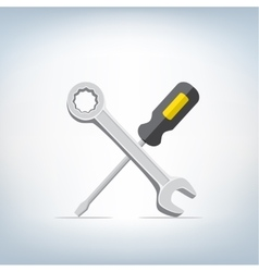 wrench and screwdriver icon vector image