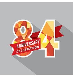 84th Years Anniversary Celebration Design vector image