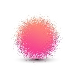 Abstract pink fluffy isolated sphere with shadow vector