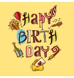 Birthday card sketch vector image