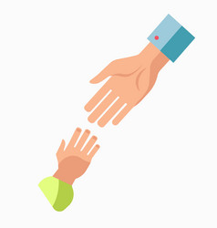 charity symbol of helping hand icon vector image vector image