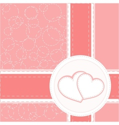 valentine heart wedding card background vector image vector image
