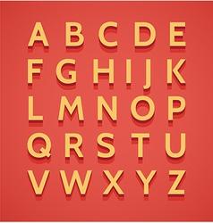 Vintage 3d alphabet vector image vector image