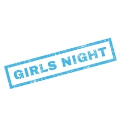 Girls Night Rubber Stamp vector image vector image