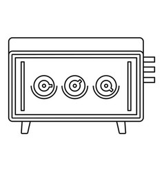musical equipment icon outline style vector image vector image