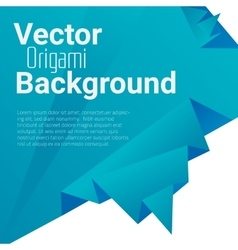 Origami polygonal abstract background vector image