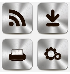 Set of web icons on metallic buttons vol4 vector image