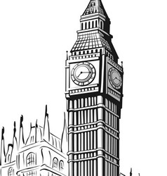 Sketch of Big Ben London vector image vector image