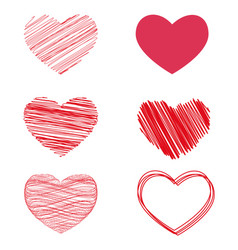 variants of hearts for valentine s day vector image