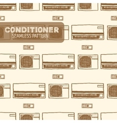 Air conditioner seamless pattern vector image vector image
