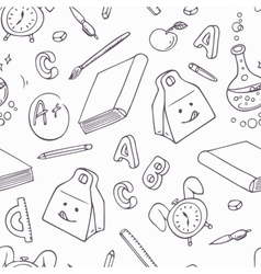 Back to school doodle objects Hand drawn school vector image