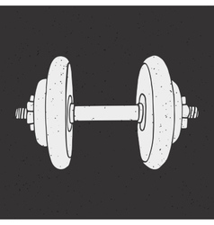 Dumbbell print vector image