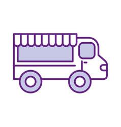 fast food shop car vector image