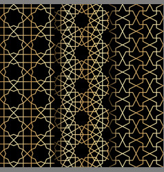 islamic geometry pattern vector image