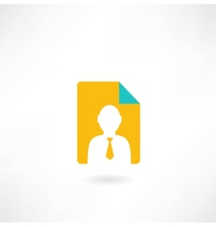 man with papers icon vector image