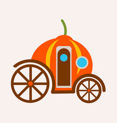 pumpkin carriage from fairy tale of cinderella vector image