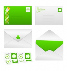St Patrick's day envelopes vector image vector image