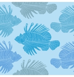 Venomous marine fish seamless pattern vector image vector image