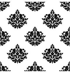 Victorian styled foliate seamless pattern vector image