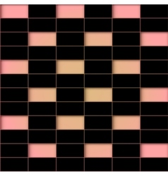 Abstract black tile vector image vector image