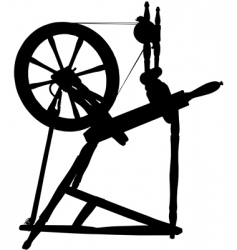 antique spinning wheel vector image vector image