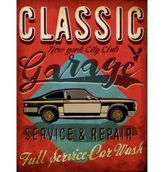 classic garage - eps10 tee graphic design vector image