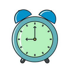 Clock cartoon icon isolated on a white background vector