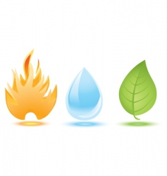 fire water leaf vector image vector image