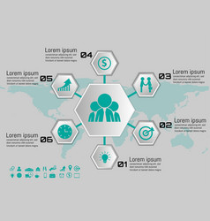 hexagon part infographic element for your business vector image