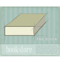 Vintage Book vector image vector image