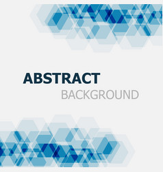 Abstract dark blue hexagon overlapping background vector