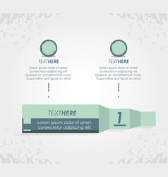 abstract infographics with tapes sketches vector image