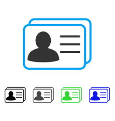 Account cards flat icon vector