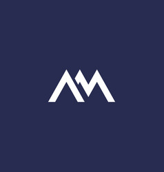 Am letters logo on dark vector