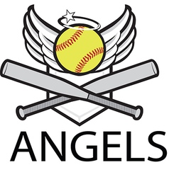 Angels baseball logo vector