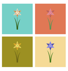 Assembly flat nature flower vector