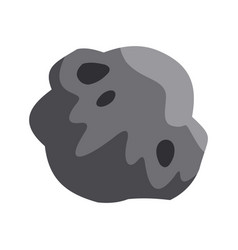 Asteroid icon flat style vector
