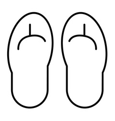 beach slippers thin line icon flip flops vector image