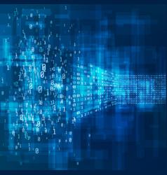 big data concept analysis information machine vector image