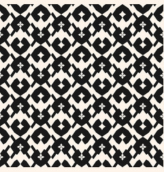 black and white seamless pattern tribal ethnic vector image