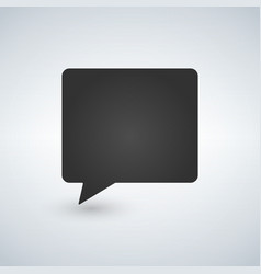 black chat icon vector image