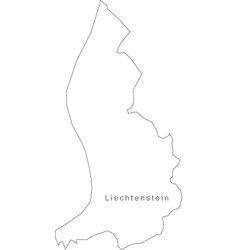 Black White Liechtenstein Outline Map vector image