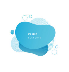 blue fluid blob for card background vector image