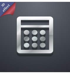 Calculator icon symbol 3D style Trendy modern vector