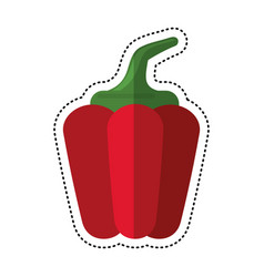 Cartoon pepper vegetable healthy image vector